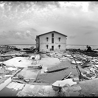 Car Nicobar , Andaman and Nicobar Islands ( India ), 12 January 2005<br /> Ruins of the military base in Car Nicobar island after the Tsunami. <br /> Photo: Ezequiel Scagnetti