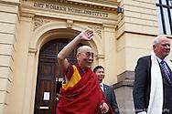 Leaving the Nobel Institute with Thorbjørn Jagland, Director of Nobel Institute. Dalai Lama