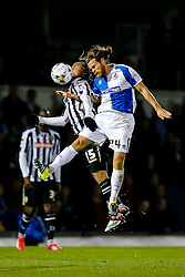 Stuart Sinclair of Bristol Rovers heads the ball as Curtis Thompson of Notts County challenges - Mandatory byline: Rogan Thomson/JMP - 07966 386802 - 20/10/2015 - FOOTBALL - Memorial Stadium - Bristol, England - Bristol Rovers v Notts County - Sky Bet League 2.