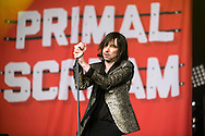 Bobby Gillespie of Primal Scream performs on the main stage at the Aviemore Stopover festival on August 1st 2015, Aveimore, Scotland.