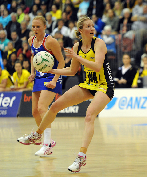 Pulse's Camilla Lees against the Mystics in the ANZ Championship netball, Arena Manawatu, Palmerston North, New Zealand, Sunday, May 18, 2014. Credit:SNPA / Ross Setford