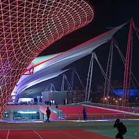 SHANGHAI, APRIL 30, 2010 : visitors take pictures at the World Expo site  before the official launch .