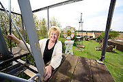 National Mills open weekend at the Wind Energy Museum in Repps with Astwisk pictured is Debra Nicholson on a Newark wind pump.<br /> <br /> Picture: MARK BULLIMORE