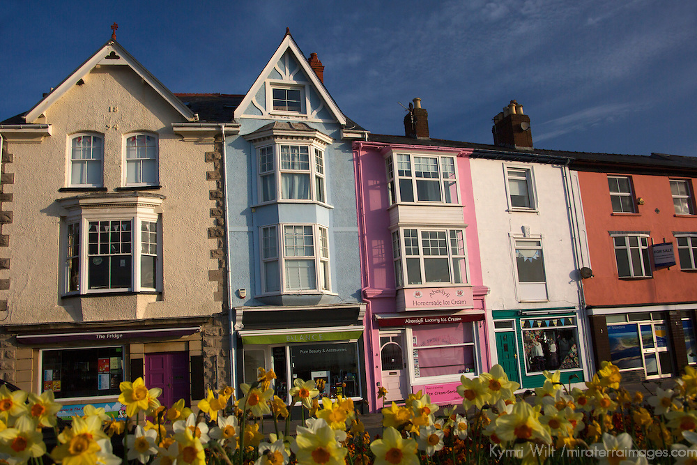 Europe, United Kingdom, Wales, Aberdyfi. Seaside town of Aberdovey, Wales.