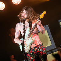Simon Neil of Biffy Clyro performs on stage at the Barrowlands on December 7th, 2014 in Glasgow
