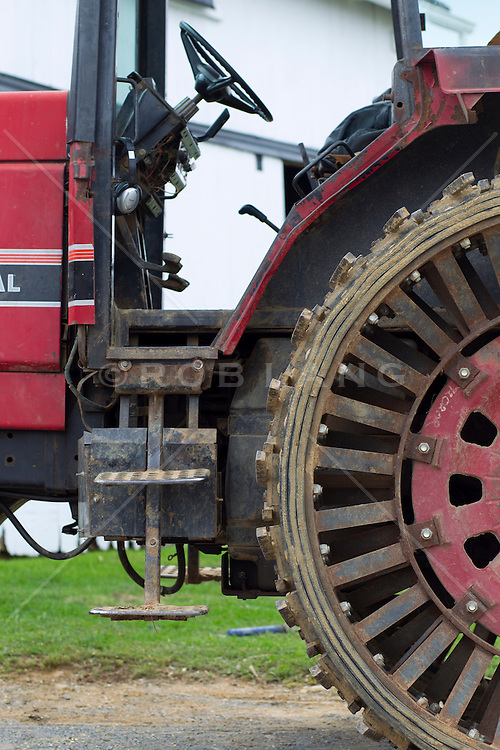 detail of a large tractor