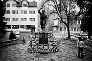 BiH, Rudo, 2009. A monument in Rudo for the Serbs who fought and died in the Bosnian war.