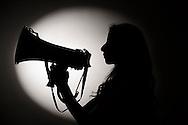 Naschla Aburman, estudiante de Arquitectura y Pedagogía General Básica, es la actual Presidenta de la Federación de Estudiantes de la Universidad Católica FEUC y la segunda mujer en la historia en obtener dicho cargo. 13-12-2013 (©Alvaro de la Fuente/Triple.cl)
