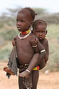 Africa, Ethiopia, Omo Valley, Daasanach tribe baby
