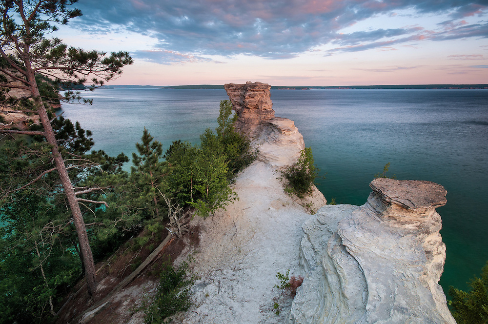 The view from atop Miner's Castle looking west.<br />