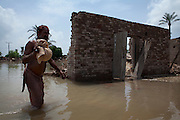 Residents of outlying villages in the district of Muzzafargarh continue to evacuate villages as flood waters continue to cause havoc in South Punjab...