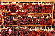Ristras, chile peppers, Santa Fe New Mexico