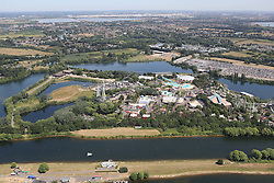 Image &copy;Licensed to i-Images Picture Agency. Aerial views. United Kingdom.<br /> Thorpe Park amusement park. Picture by i-Images