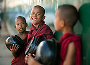 A novices in Yangon, Myanmar.