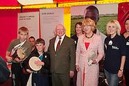 Irish Aid And President Michael D Higgins at National Ploughing Championships, at Ratheniska,