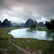 AA01207-03...CHINA - Tributary to the Li River near Yangshuo.
