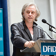 An agreement between the Department for International Development (DFID), the Governments of Rwanda and Malawi and Band Aid/The Hunter Foundation, and managed by the Clinton Hunter Development Initiative (CHDI) was launched at the DFID offices in London. Photo shows Sir Bob Geldof speaking.