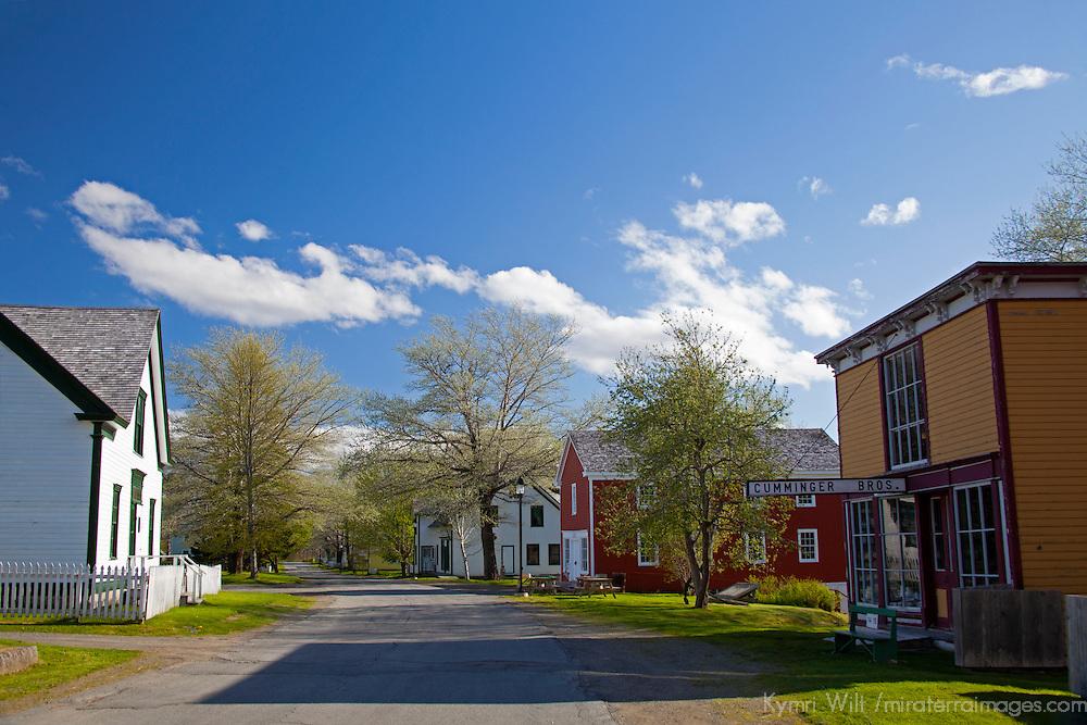 North America, Canada, Nova Scotia, Sherbrooke. Main street of Sherbrooke Village, an open air museum in Guysborough.