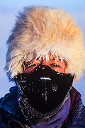 Renee Bish<br /> while photographing at -40&ordm;<br /> Darkhad Depression<br /> Northern Mongolia