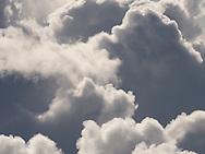 Cumulus clouds near Brechin, Angus
