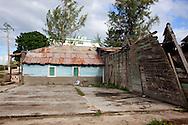 Collapsing house in Tacajo, Holguin, Cuba.