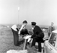 The Beatles 1967 Paul McCartney films Magical Mystery Tour on Bodmin Moor in Cornwall. ..© Chris Walter..