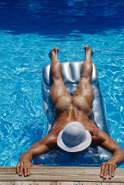 Naked in the swimming pool