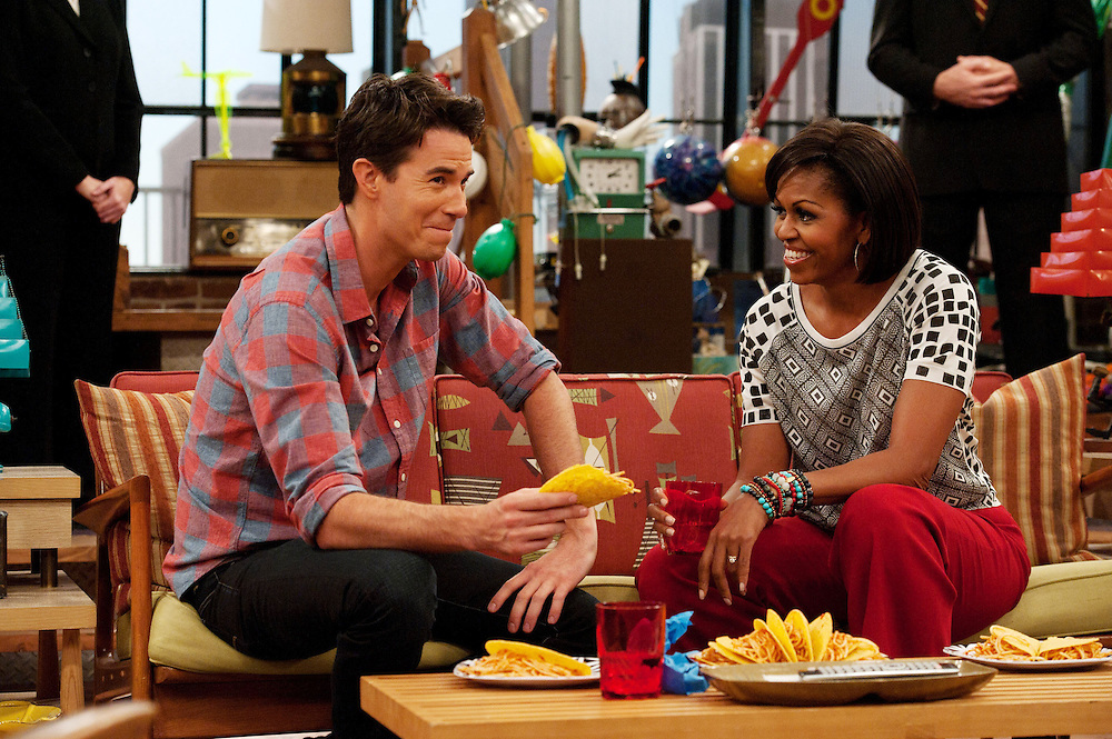 Michelle Obama, Jerry Trainor in iCarly