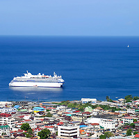 Overlooking St. Maarten, a popular Caribbean cruise destination.