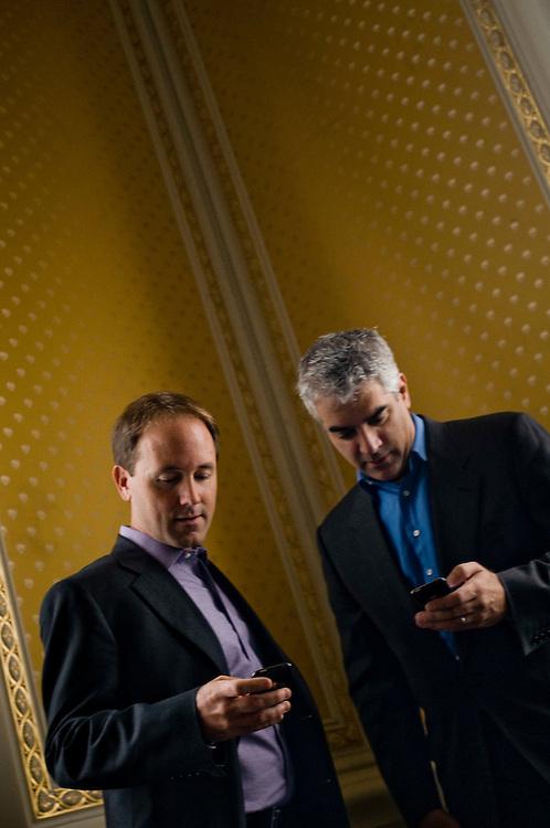 Nicholas Christakis  and James Fowler..Photographer: Chris Maluszynski /MOMENT