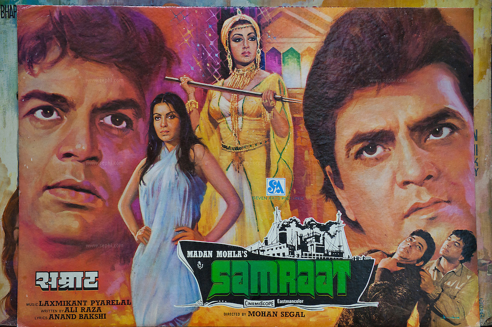 Indian Popular Art, original and reproduction Bollywood film posters. (5 Haus Khaz Village, Mob: 98119 60996)