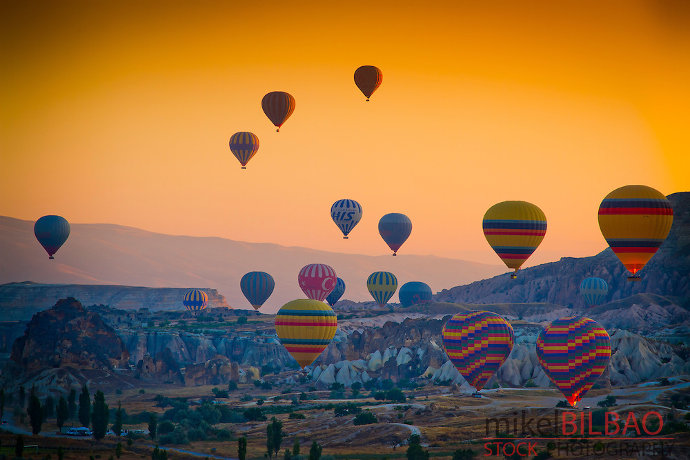 Hot-air ballons. Capadoccia, Turkey