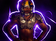 Oak Ridge High School's Seyi Ajirotutu is the most valuable player on The Bee's 2004 All-Metro Football Team, photographed in the Bee studio, Wednesday December 1, 2004.