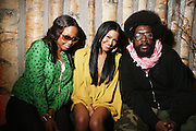 l to r: Christte Michelle, Cassie and Quest?Love Cassie at Solange Knowles NYC Album release party held at Butter in New York City on September 5, 2008