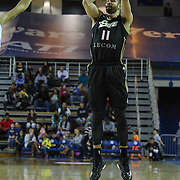 Erie BayHawks Guard Drew Crawford (11) attempts a three point shot in the second half of a NBA D-league regular season basketball game between the Delaware 87ers and the Erie BayHawk (Orlando magic) Friday, Jan. 02, 2015 at The Bob Carpenter Sports Convocation Center in Newark, DEL