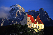 Image of the picturesque town of Fussen in Bavaria, Germany