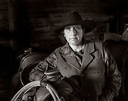 WY02436-01...WYOMING - Jaira McKeown in the barn at Willow Creek Ranch.  MR# M19