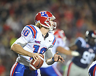 Ole Miss vs. Louisiana Tech's Colby Cameron (10) in Oxford, Miss. on Saturday, November 12, 2011.