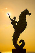 ?Caballero del Mar? (?The Seahorse?) by Rafael Zamarripa, 1976, The Malecon, Puerto Vallarta, Jalisco, Mexico