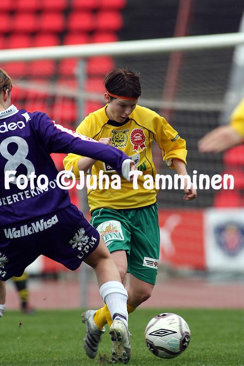20.05.2006, Ratina, Tampere, Finland..Naisten SM-sarja 2006.Ilves - FC United Pietarsaari.Elina Kortekangas - Ilves.©Juha Tamminen.....ARK:k