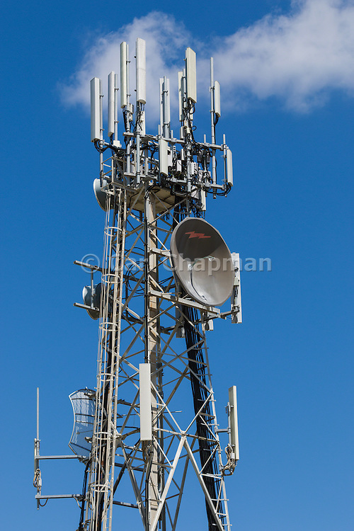 Provincial  cellular, microwave and telecom communications systems lattice tower in Hervey Bay, Queensland, Australia.