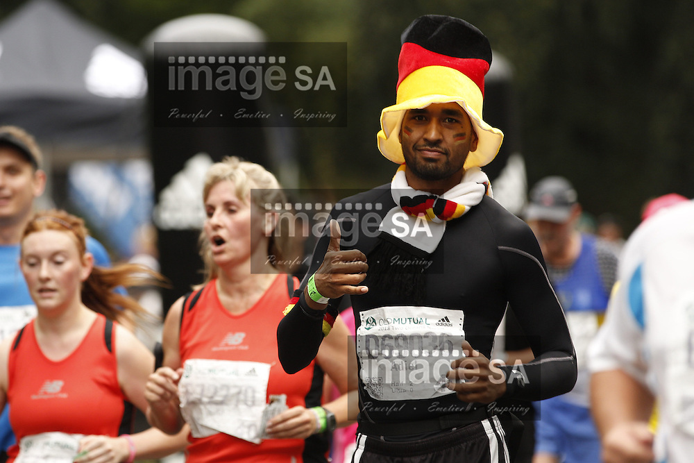 CAPE TOWN, South Africa - Saturday 30 March 2013, German Runner during the half marathon of the Old Mutual Two Oceans Marathon. .Photo by Nick Muzik/ ImageSA