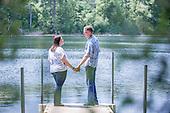 Kim & Robert's summer engagement session at Pinehurst Conservatio