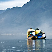 Boats on Lake Dal in Srinagar, Kashmir, India