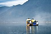 Boats on Lake Dal in Srinagar, Kashmir, India