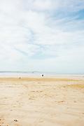 The sandy, large, empty beach outside Essaouira