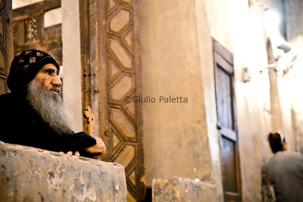 Coptic monk in the monasteries of Wadi Natrum, West Desert