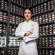 Elena Arzak at her kitchen.