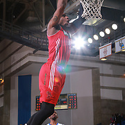 Maine Red Claws Forward COTY CLARKE (4) dunks the ball in the first half of a NBA D-league regular season basketball game between the Delaware 87ers and the Maine Red Claws  Friday, Feb. 05, 2016 at The Bob Carpenter Sports Convocation Center in Newark, DEL.