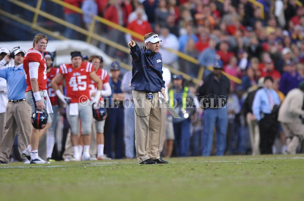 Ole Miss Coach Hugh Freeze vs. LSU at Tiger Stadium in Baton Rouge, La. on Saturday, November 17, 2012. LSU won 41-35.....